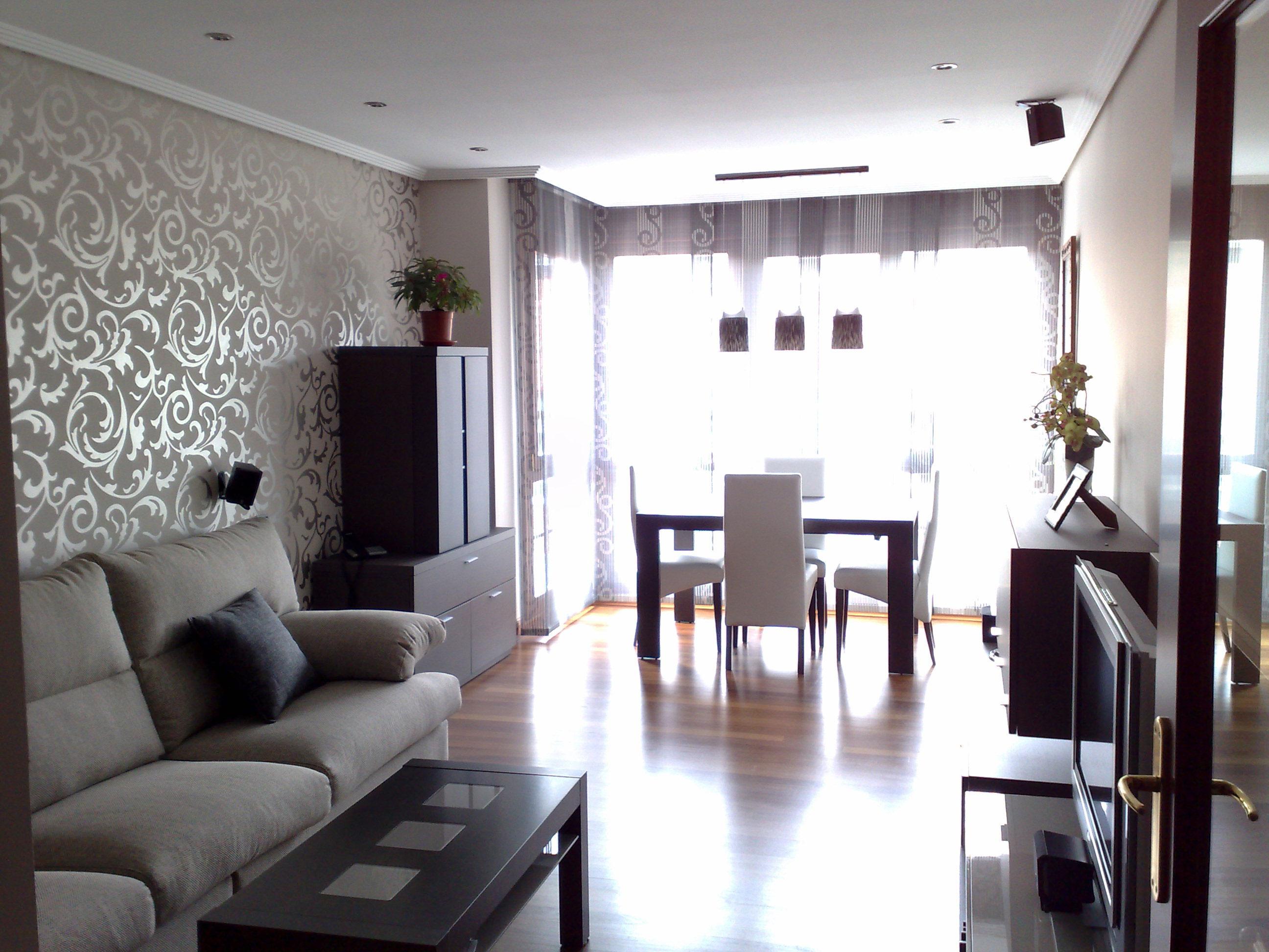 Decoraci n de espacios sala comedor decorar tu casa for Cortinas salon comedor